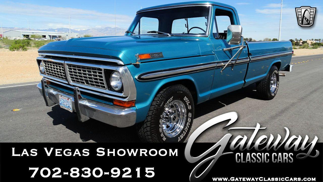 For Sale Teal 1970 Ford F250 Pickup Truck 390 Cid V8 3 Speed