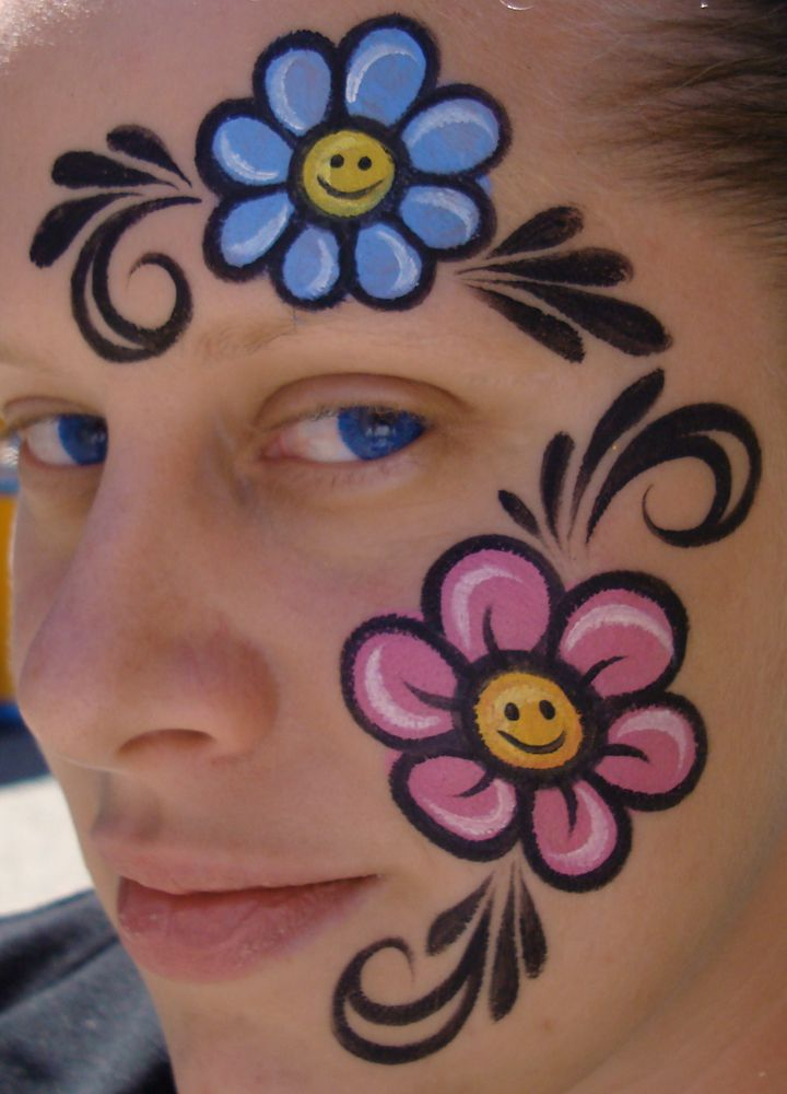 Happy Flower Power by thepinupgirl on DeviantArt | face ...