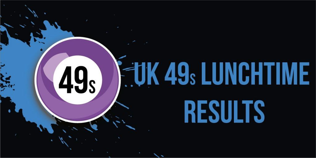 Lunchtime results for today 2019 lottery results