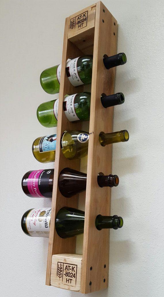 Estilizar La Forma De Almacenar Su Vino Con Este Estante De La Plataforma Vertical Vino Cuando Este Montado En La Pared Esta Exclusiva Casier Vin Vin Palette Et Casiers A