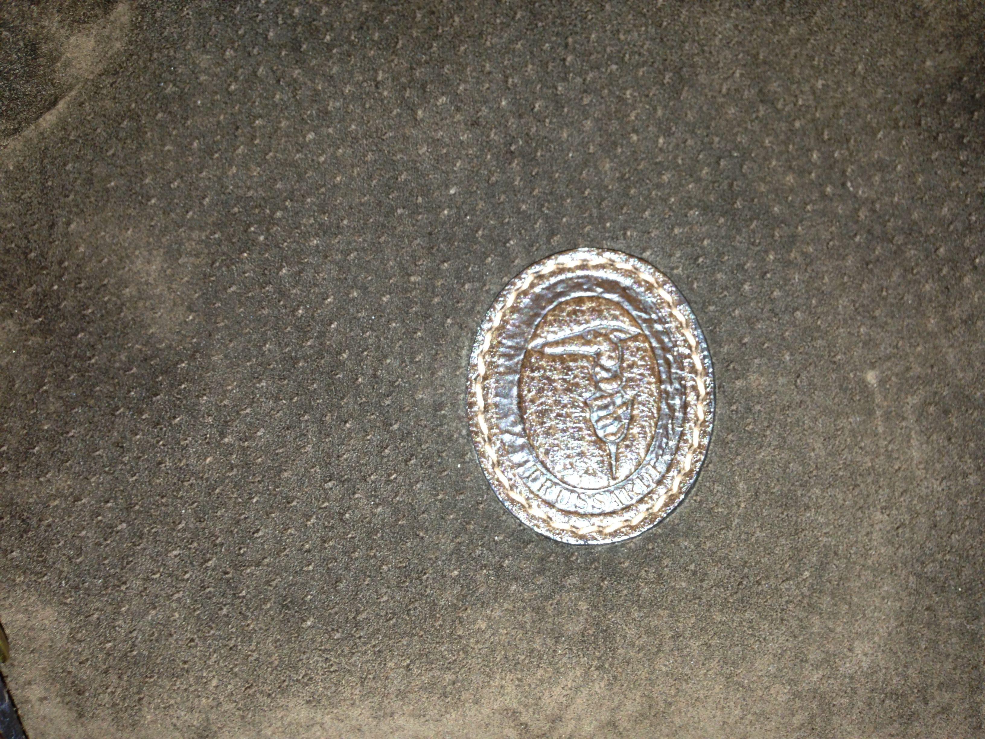 Logo. Trussardi suede stunning bag