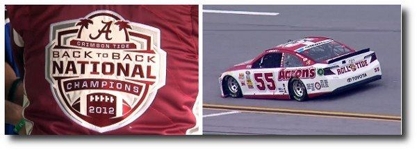 Michael Waltrip at Talladega race- May 2013, driving the 2012 Back to Back National Champions race car.