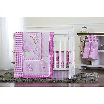 Dream On Me Butterfly And Flower 5 Piece Crib Bedding Set Portable Crib Bedding Portable Crib Cribs