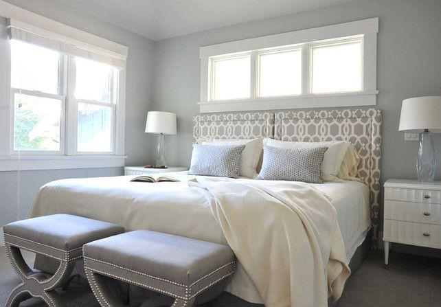 Benjamin Moore Wickham Gray Hc 171 Blue Bedroom Walls Master
