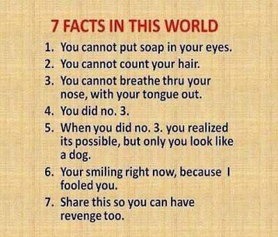 7 Facts in this world funny whatsapp joke - http://bit.ly/1DVtdzy - #7, #Auto, #Draft, #Facts, #Funny, #In, #Joke, #This, #Whatsapp, #World visit http://bit.ly/1DVtdzy, for more funny images