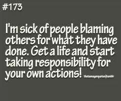 Take responsibilty
