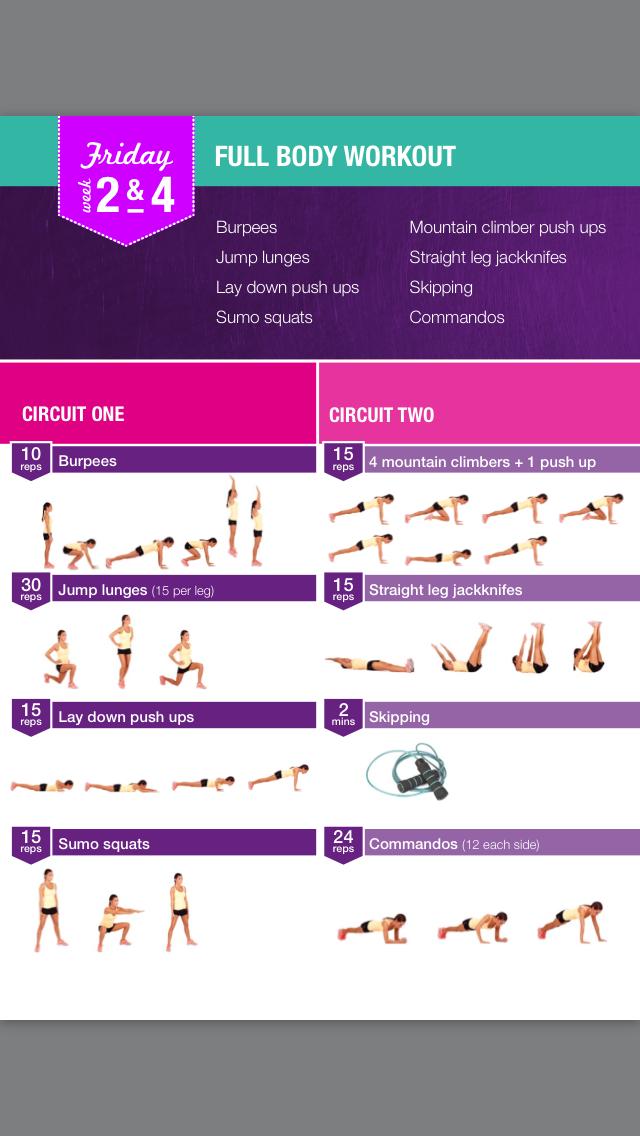 Week 2 friday day 3 | Kayla | Bikini body guide, Body