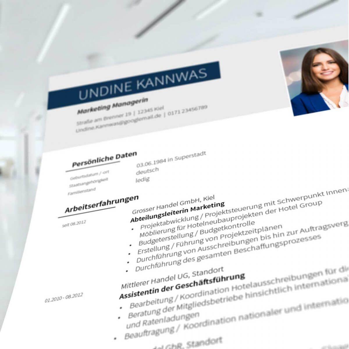 Bewerbungsdesign Problemloser Lebenslauf Lebenslauf Bewerbung Design Deutsch Lernen