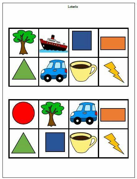 389cce016e5a0 Lotería para conocer las figuras geométricas