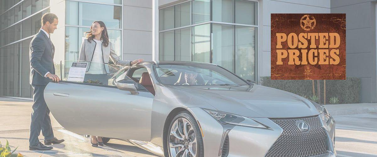 Posted Prices Lexus Sales near Fredericksburg, TX