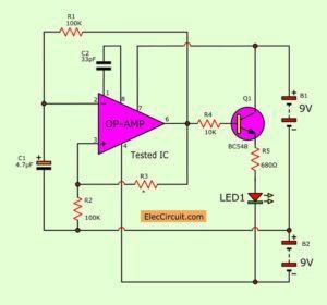 the op amp ic tester circuit chargers circuit amp diy electronics rh pinterest com au