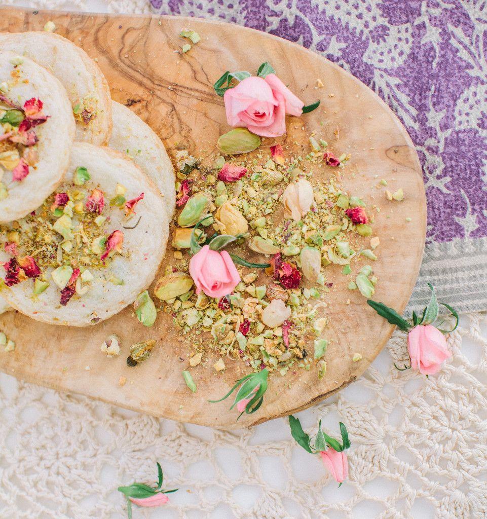 Pistachio Kiss Cookies: Eats- Rose + Pistachio Cookies