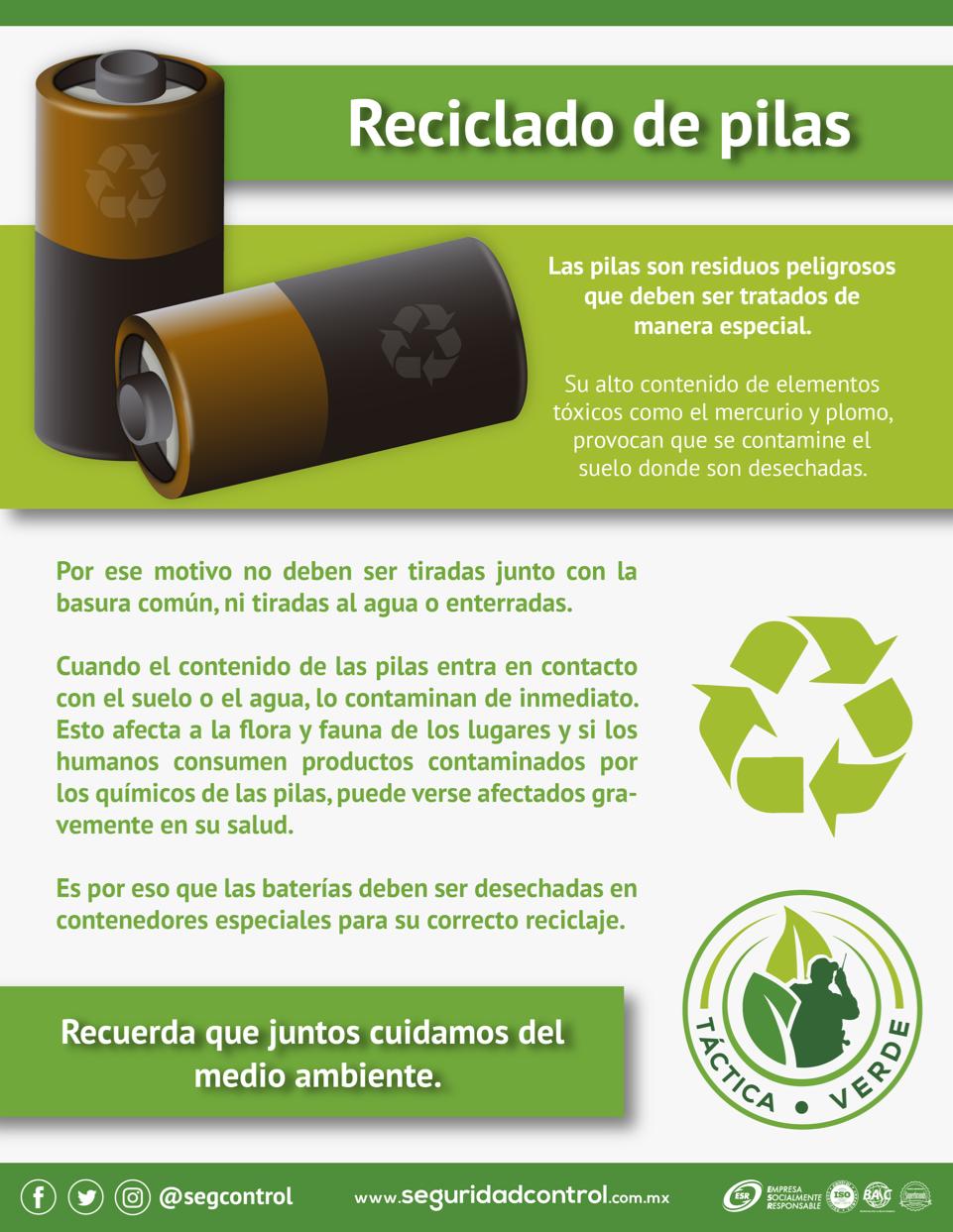 Reciclado De Pilas Reciclar Pilas Reciclado Reciclar