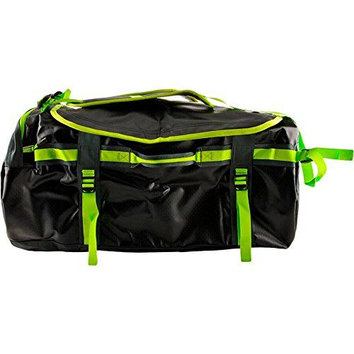 445d5e93d92 North Face Base Camp Duffel Backpack - Black Green TNF Bl..