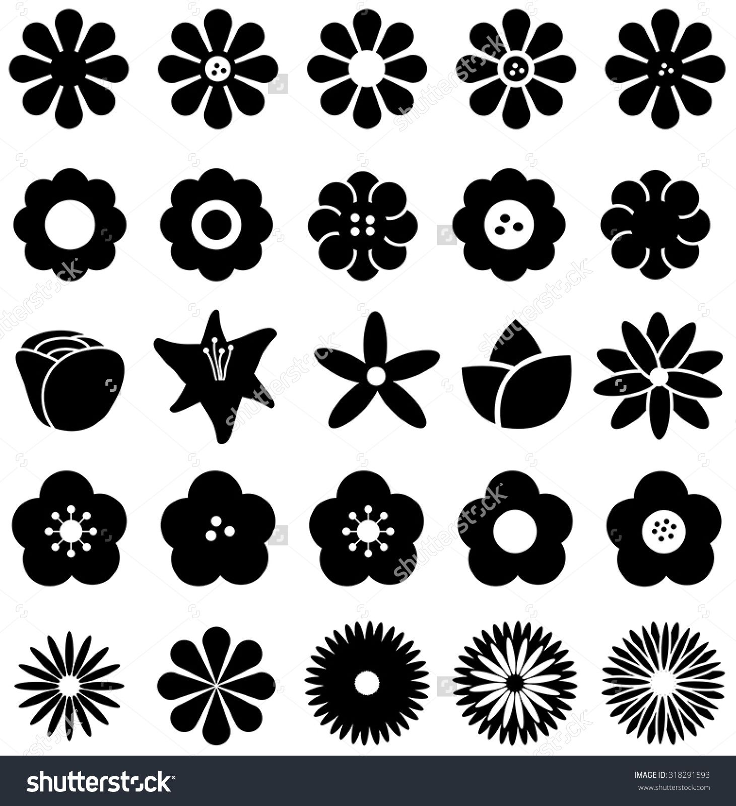 flower silhouettes | Simple Daisy Silhouette simple shape ...