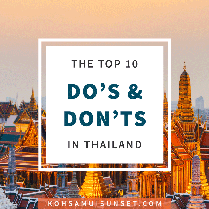Before you go to Thailand