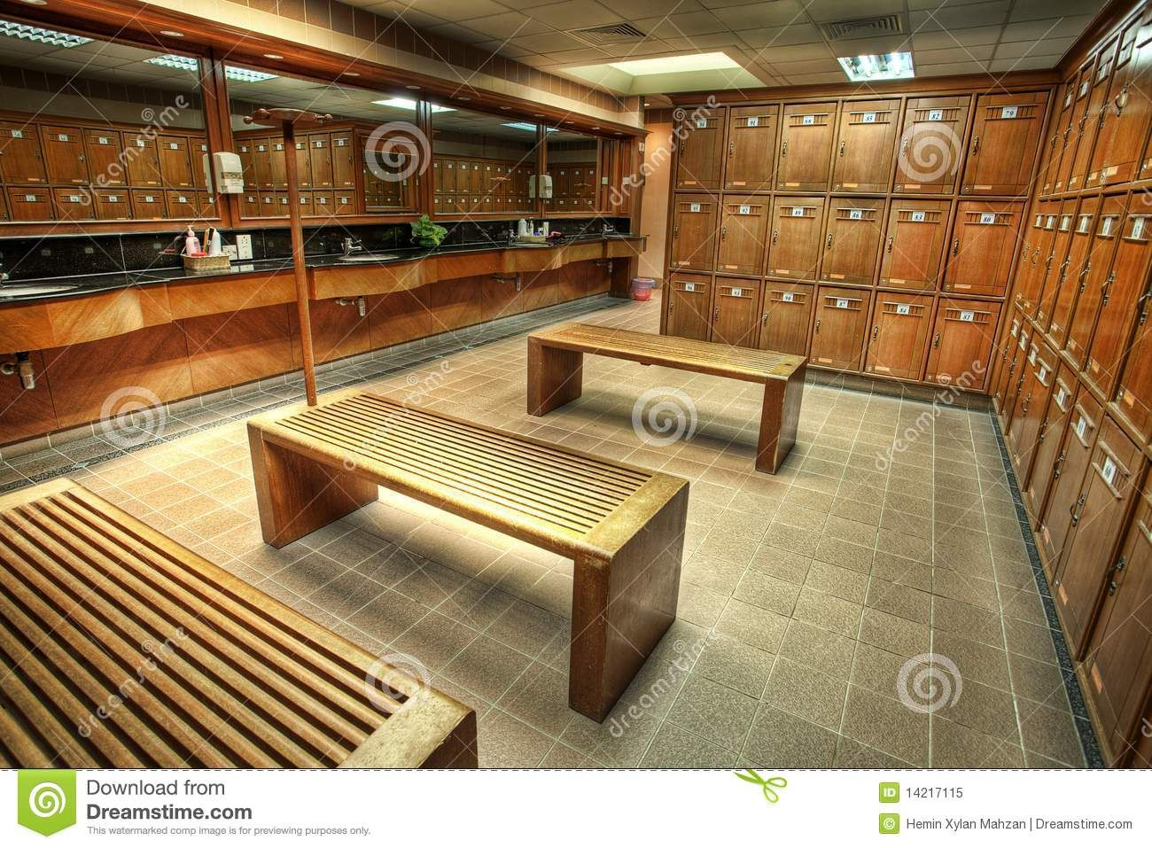 country club locker rooms | interior shot of a locker or changing