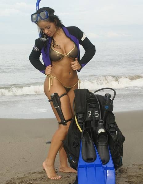 Erotic scuba babe photos bon