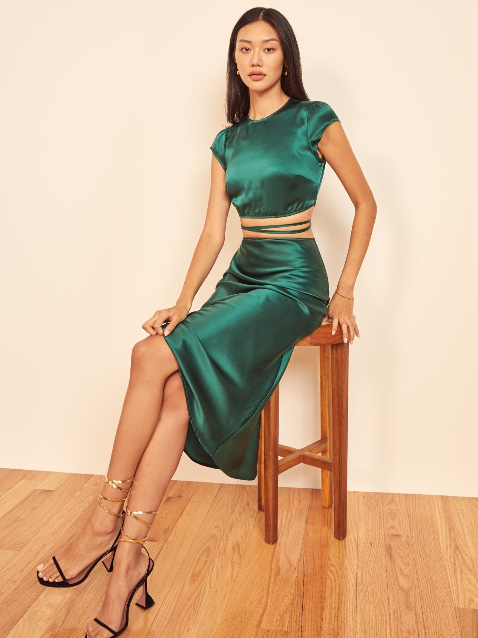 Henri Two Piece Silk Two Piece Outfit Skirt Silk Outfit Two Piece Outfits Skirt [ 2133 x 1600 Pixel ]