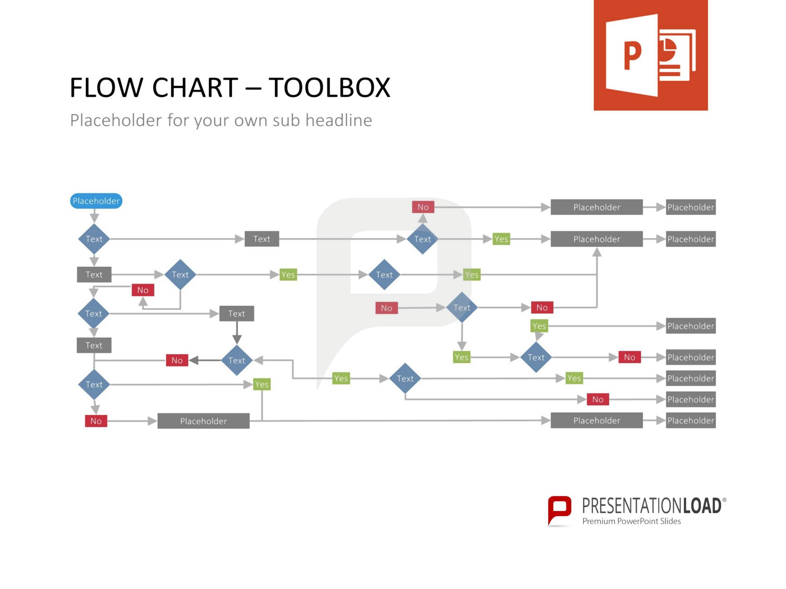 Our new flow chart toolbox contains a broad selection of pre our new flow chart toolbox contains a broad selection of pre designed slides for powerpoint geenschuldenfo Image collections