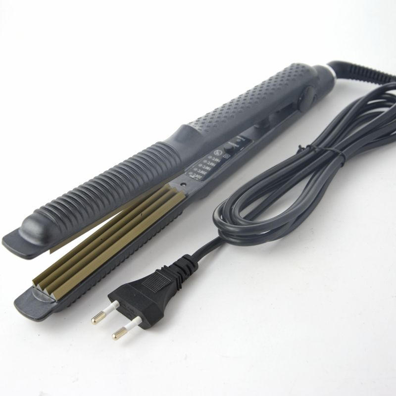 Controllo della temperatura Piastre Per Capelli di Ferro Ondulato Hair Care Styling Tools Capelli Dell'onda Curling Iron 220 V