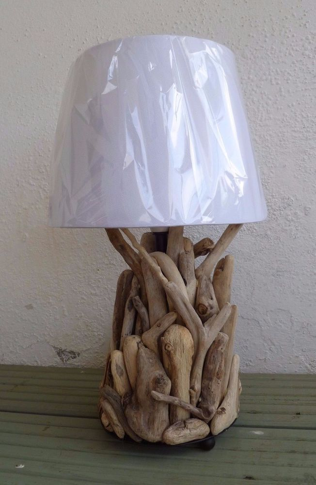 Driftwood Seaside Beach Table Lamp   Handmade In Cornwall