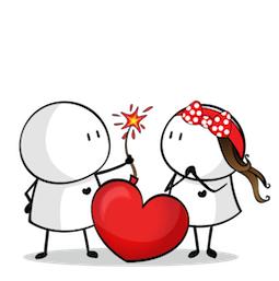 Facebook Messenger Bigli Migli Sticker 15 Messenger Stickers Valentines Day Drawing Art Drawings For Kids