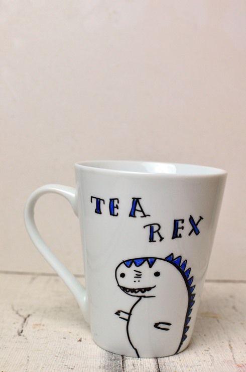 Tassen bemalen - eine einfache Geschenkidee #mugcup