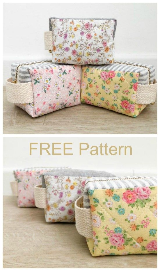 Little clover zipper pouch - FREE pattern #bagsewingpatterns