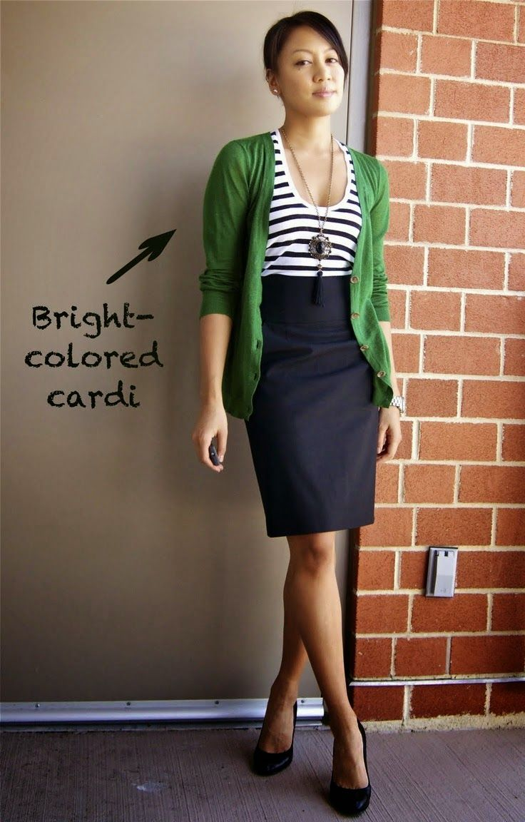 How to bright wear green skirt