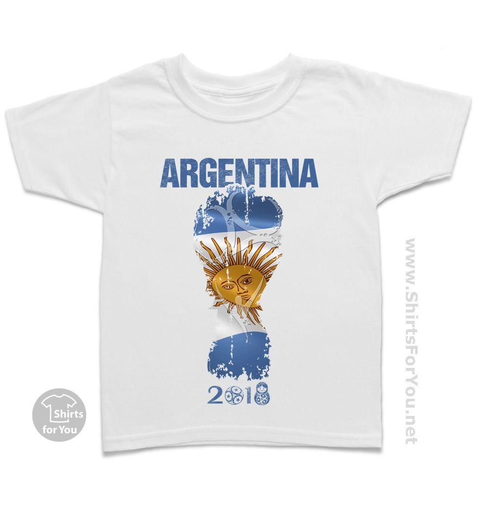 6292136ad0e Argentina Football Fan Kids T-Shirt