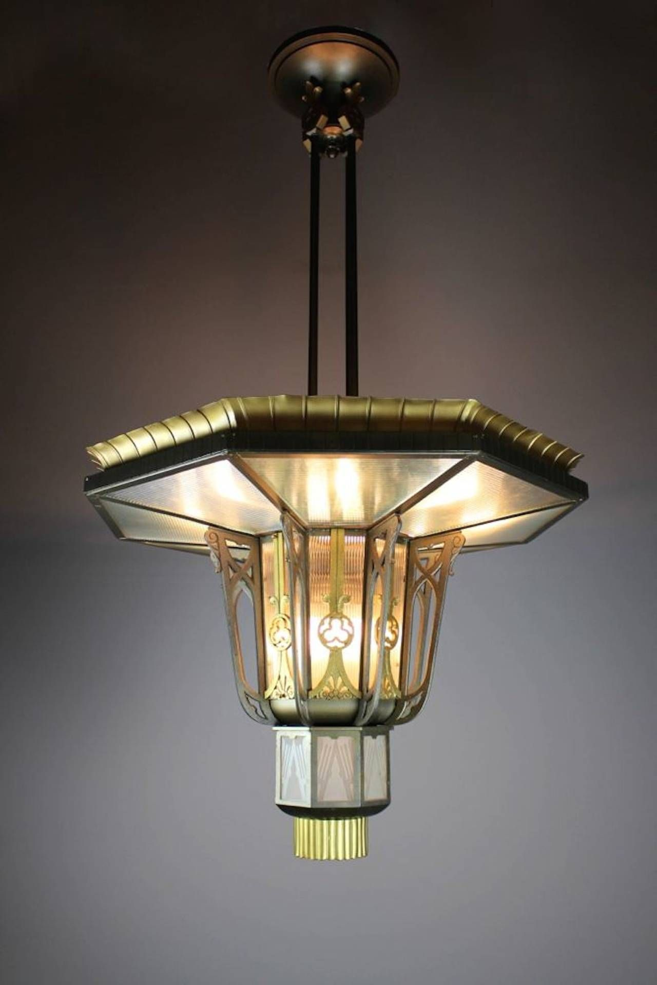 Monumental Art Deco Theatre Light   From a unique collection of antique and modern chandeliers and pendants  at https://www.1stdibs.com/furniture/lighting/chandeliers-pendant-lights/