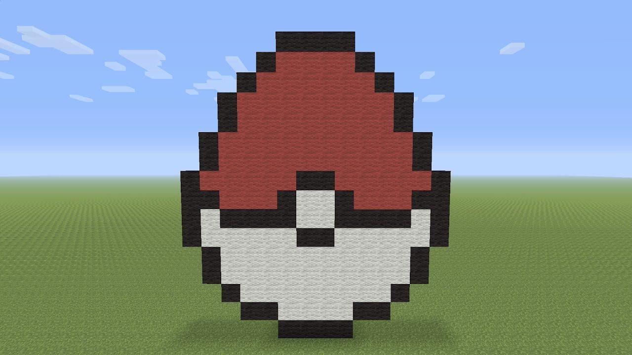 Minecraft Pixel Art Pokeball Easter Egg Minecraft Pixel Art