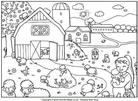 Coloring Page Farm Coloring Pages Spring Coloring Pages Coloring Pages Winter