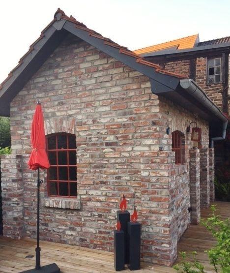 Garden house made of old bricks Anbau haus, Anbau