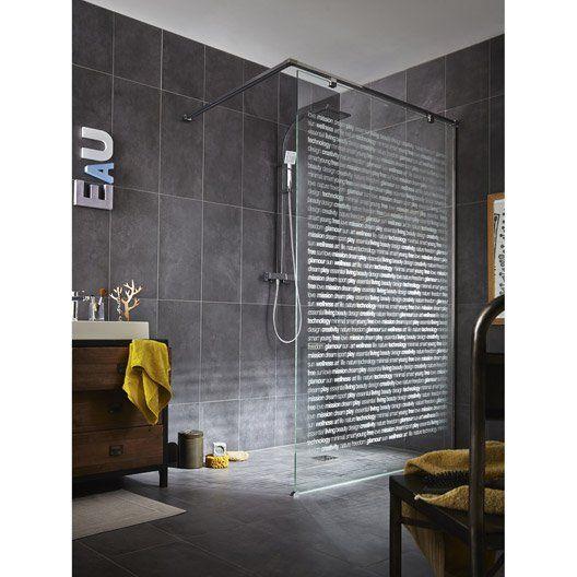 Paroi De Douche A L Italienne L 135 Cm Verre Serigraphie 8 Mm Elisea Italienisches Badezimmer Modernes Badezimmer Badezimmer