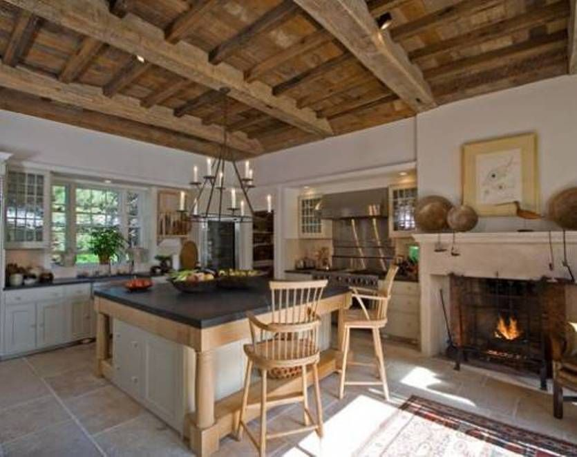Rustic Italian Fireplace Italian Rustic Kitchen With Wooden