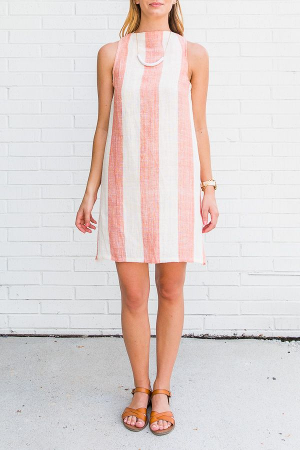 How To Sew A Summer Shift Dress From A Tablecloth Shift Dresses Diy Shift Dress Pattern Summer Shift Dress