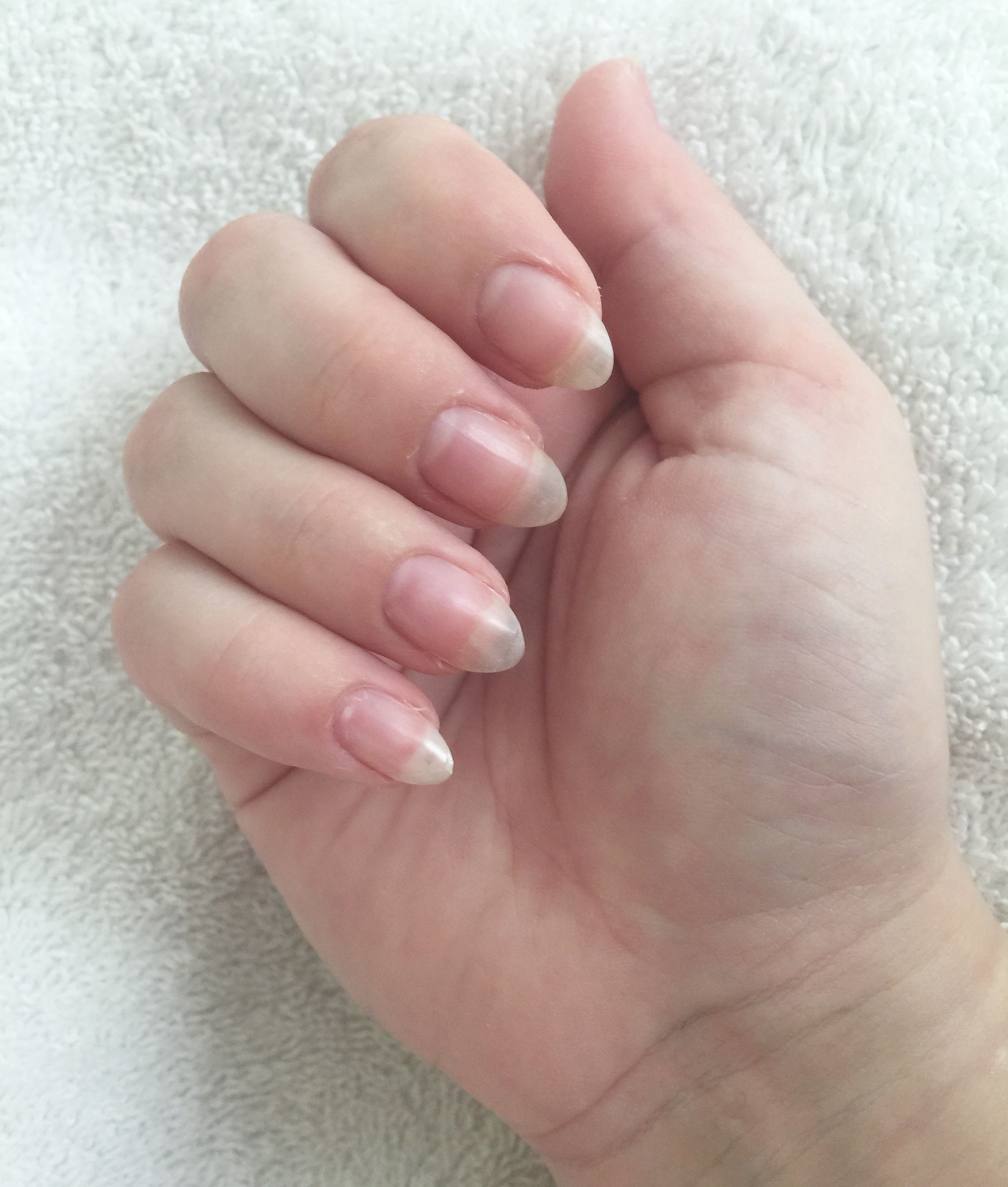 My Bare Almond Shaped Natural Nails Natural Nail Designs Nails Natural Nails