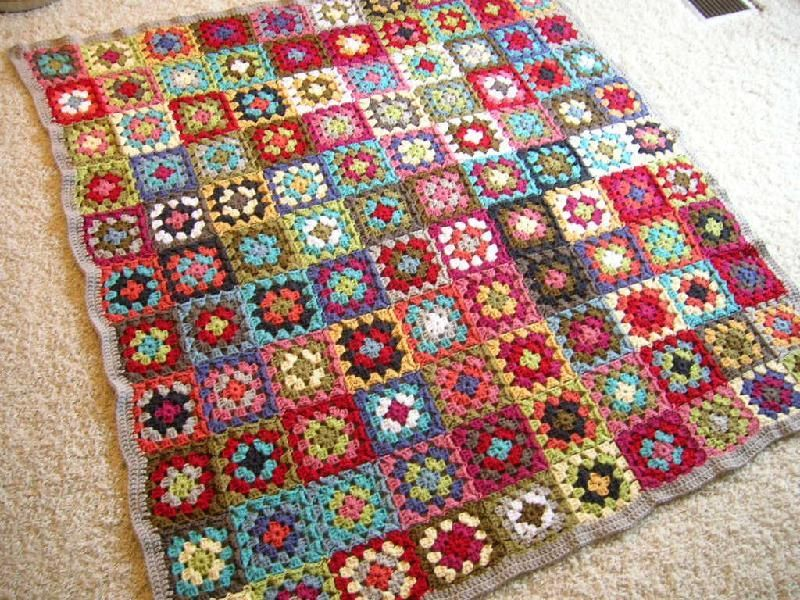 how to join crochet squares to make a blanket