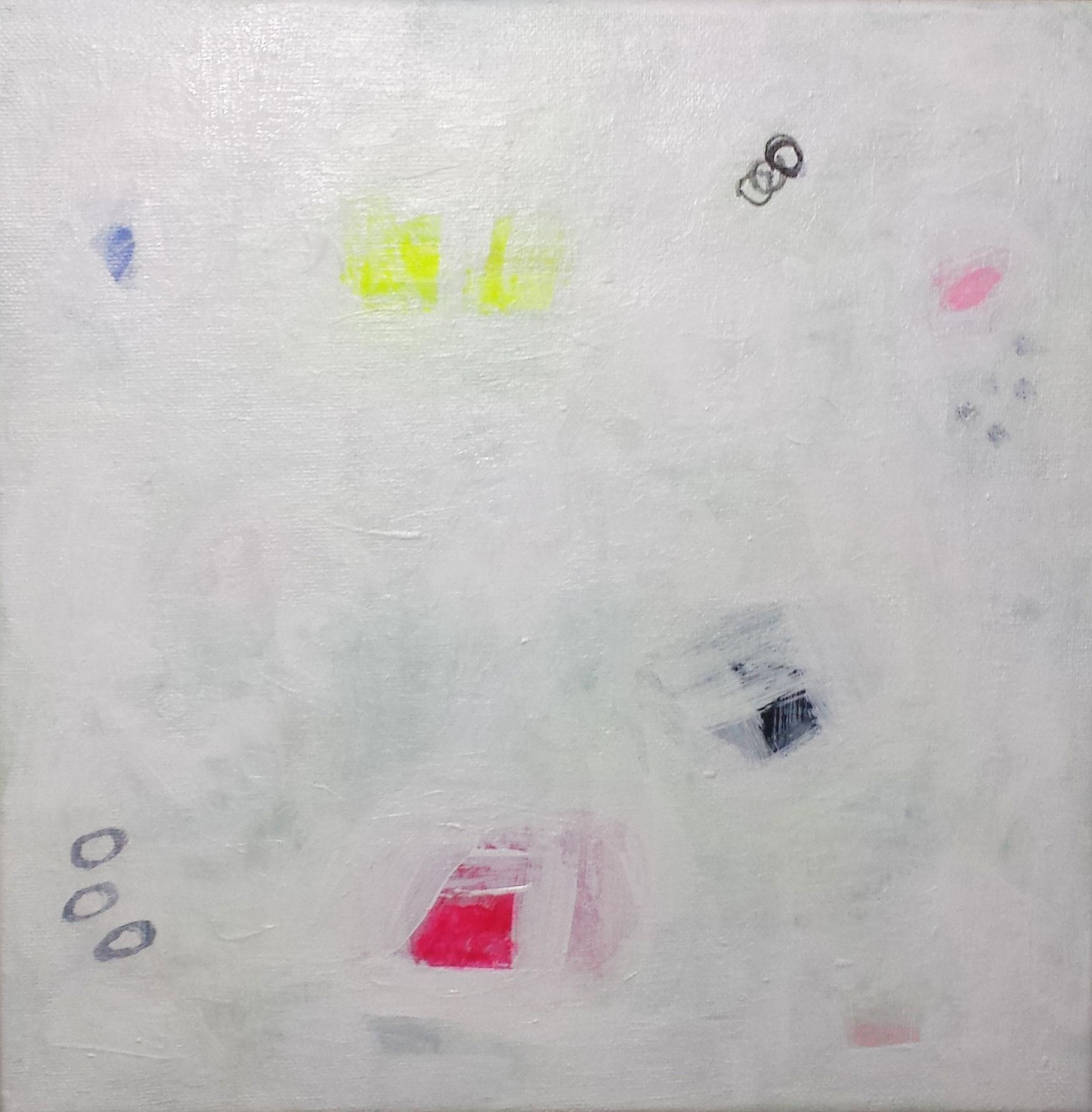 """Abstract Painting - """"White Landcape"""" by Susie Kate on Chairish.com"""