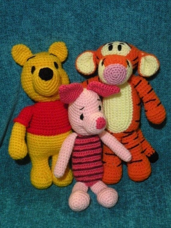 SPECIAL OFFER - 6 amigurumi crochet pattern from Winnie the Pooh and ...