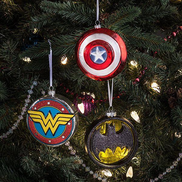 DC Batman Logo Blown Glass Ornament Diy tree ornaments