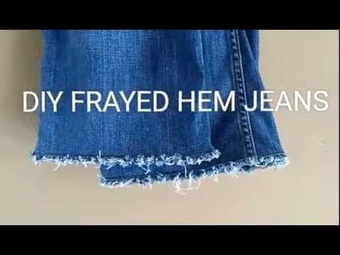 910ea5a6 DIY FRAYED HEM JEANS | It's Ligaya - YouTube | DIY Frayed Hem ...