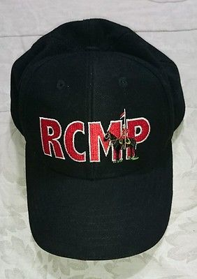 RCMP Royal Canadian Mounted Police Black Baseball Hat  08fb8a15978