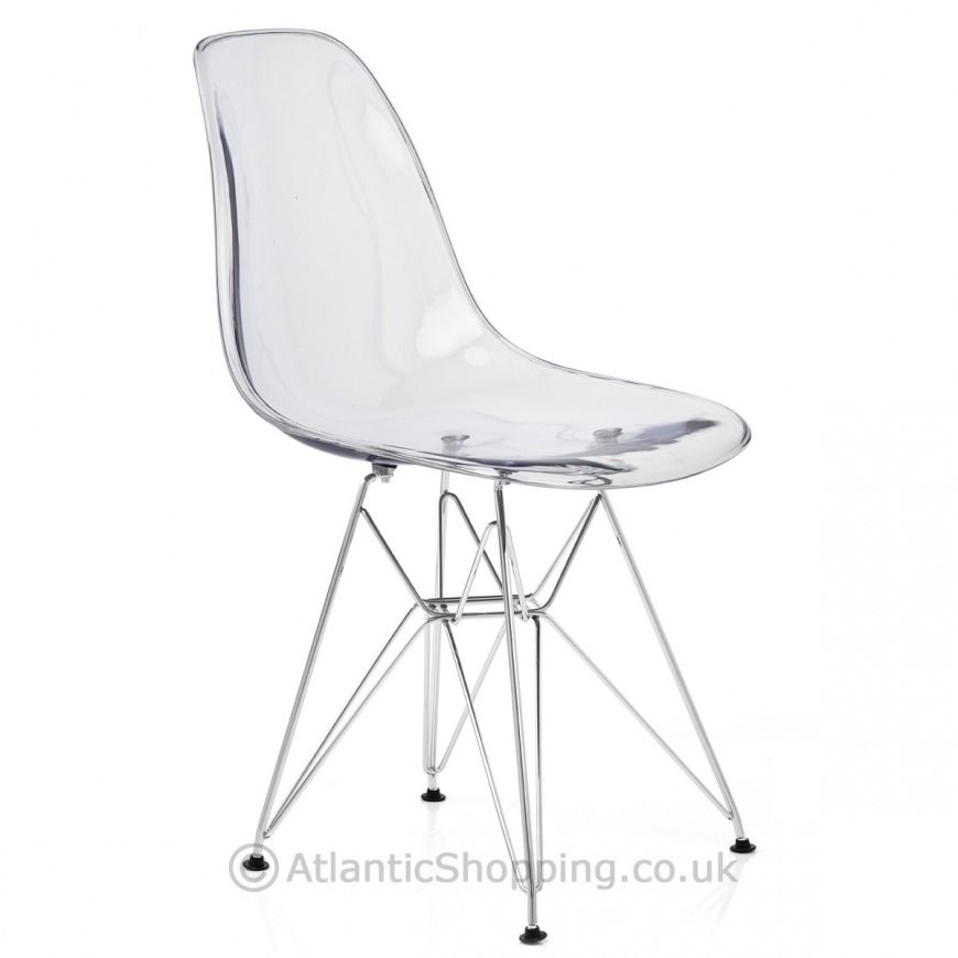 Eames Chair Wien eames style dsr chair clear atlantic shopping the living room