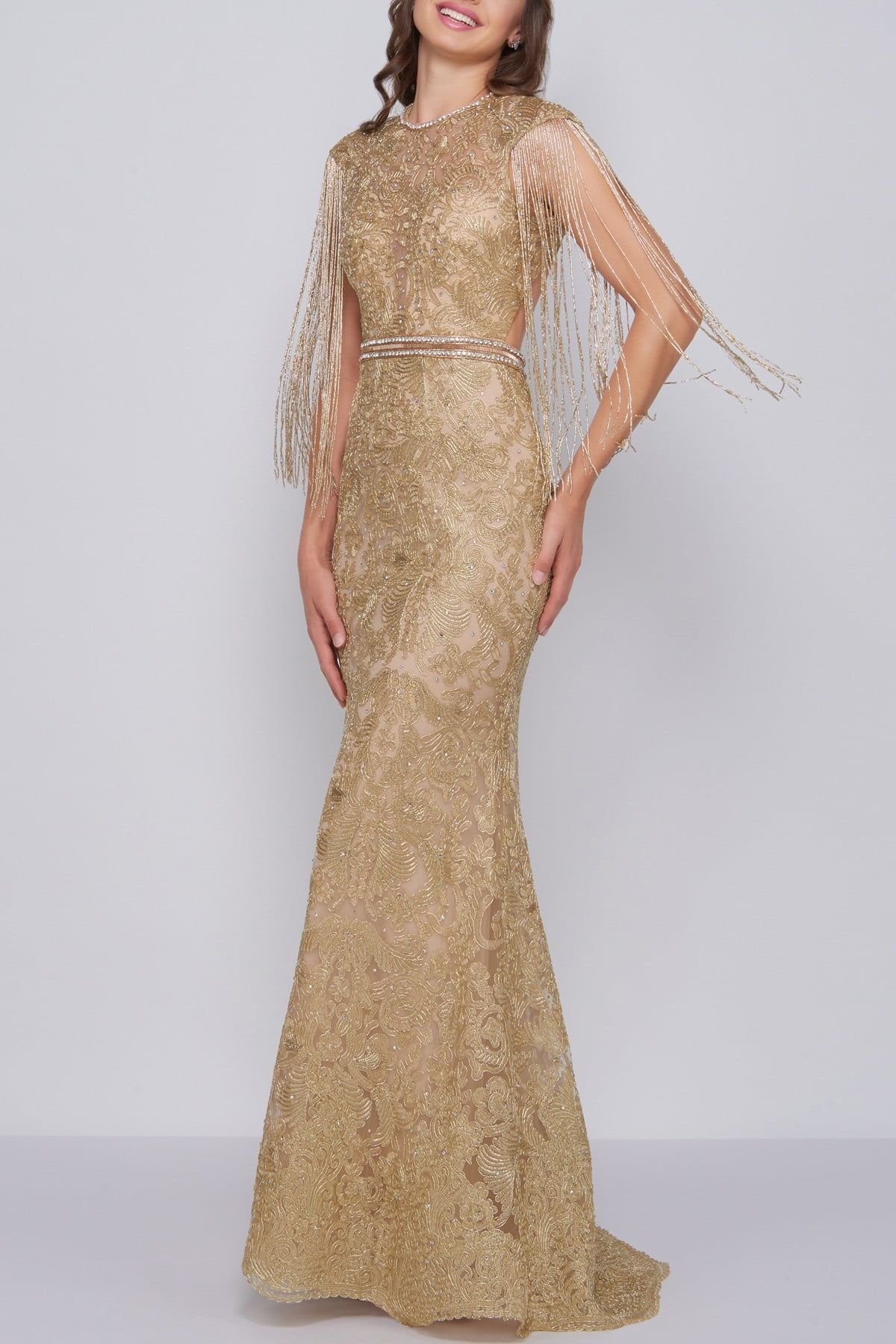 Mac Duggal Novelty Fringe And Lace Trumpet Gown Nordstrom Rack Trumpet Gown Formal Dresses Dresses [ 1800 x 1200 Pixel ]