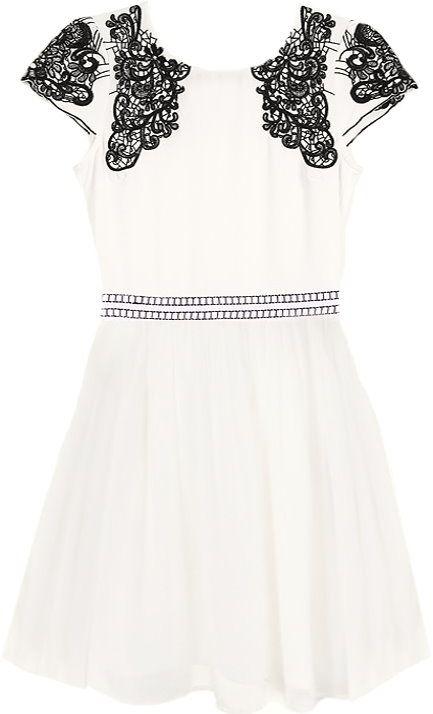 Stenciled Tea Dress