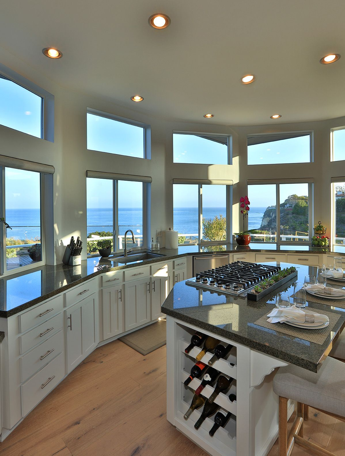 Luxury Modern Southern California Kitchen With Ocean View Home