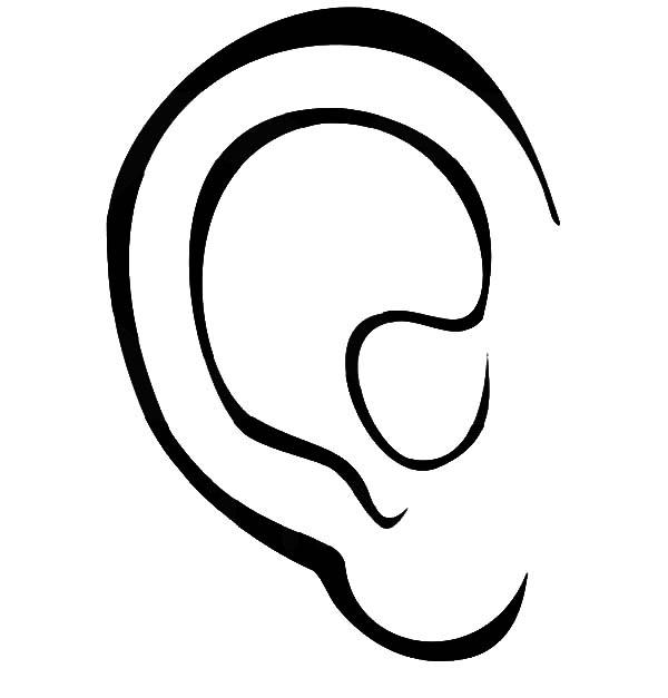 Human Ear Coloring Pages Kids Play Color Human Ear Coloring Pages Ear Picture